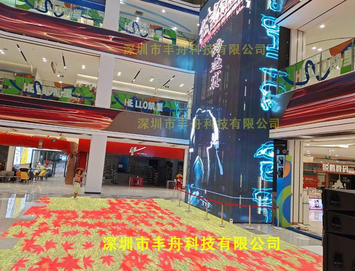 贵州凯里商场_96平方LED地砖屏_140平方led透明屏
