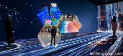 LED地砖屏呈现变幻多彩的地面屏幕,到底要多少钱?