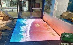 贵州火锅城8平方LED地砖屏沙滩海浪效果