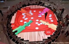 圆形led互动地砖屏广西北海宁春城商场项目案例