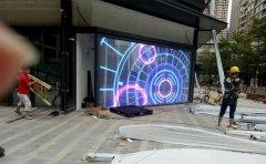 户外LED透明屏万科云城项目24平方米