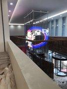 LED透明屏四面吊装河南省新郑市行政中心68平方米