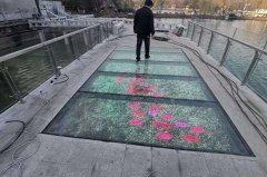 江西南昌东湖公园玻璃栈道透明屏