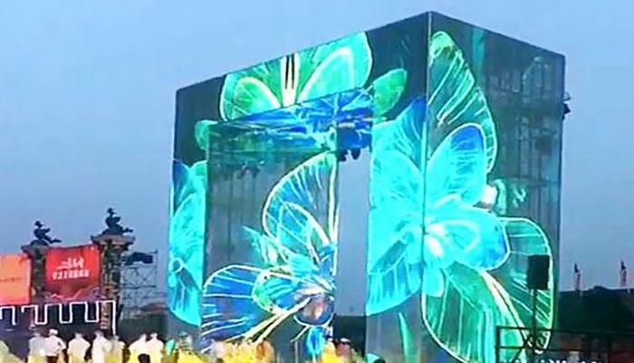 LED透明屏价值跃升为建筑传媒添光溢彩