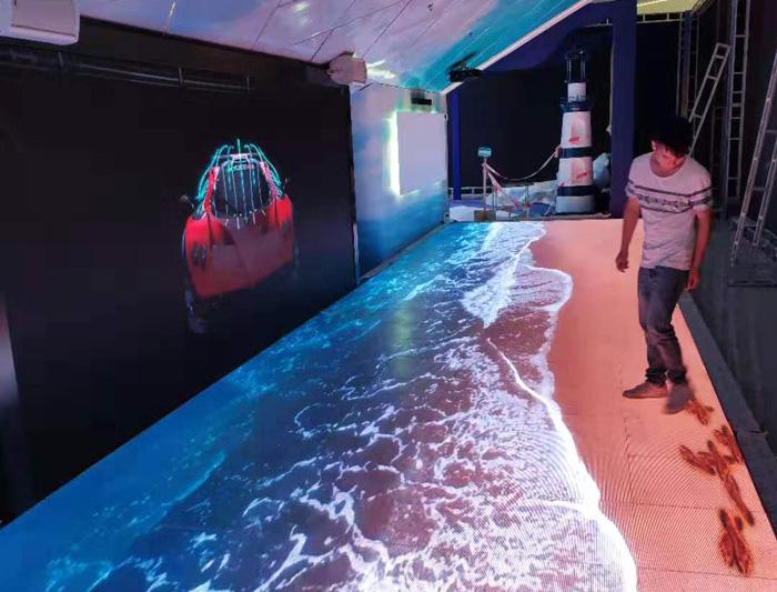 P3.91海浪LED地砖屏