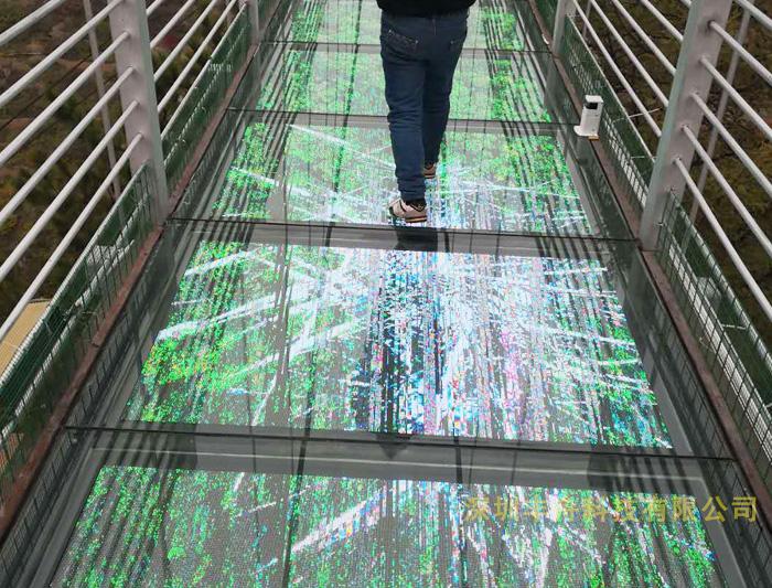 景区玻璃栈道特效屏
