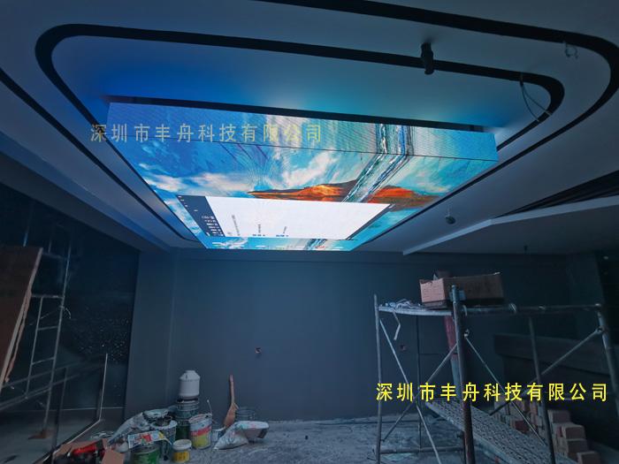 甘肃酒吧P2.5_3D天幕屏项目7平方成功点亮