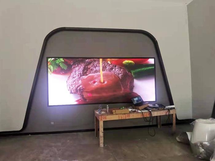 深圳坪山公司展厅全彩P2.5显示屏项目成功点亮